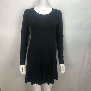 ⭐️Forever 21 Black Long Sleeve T-shirt Dress Sz L